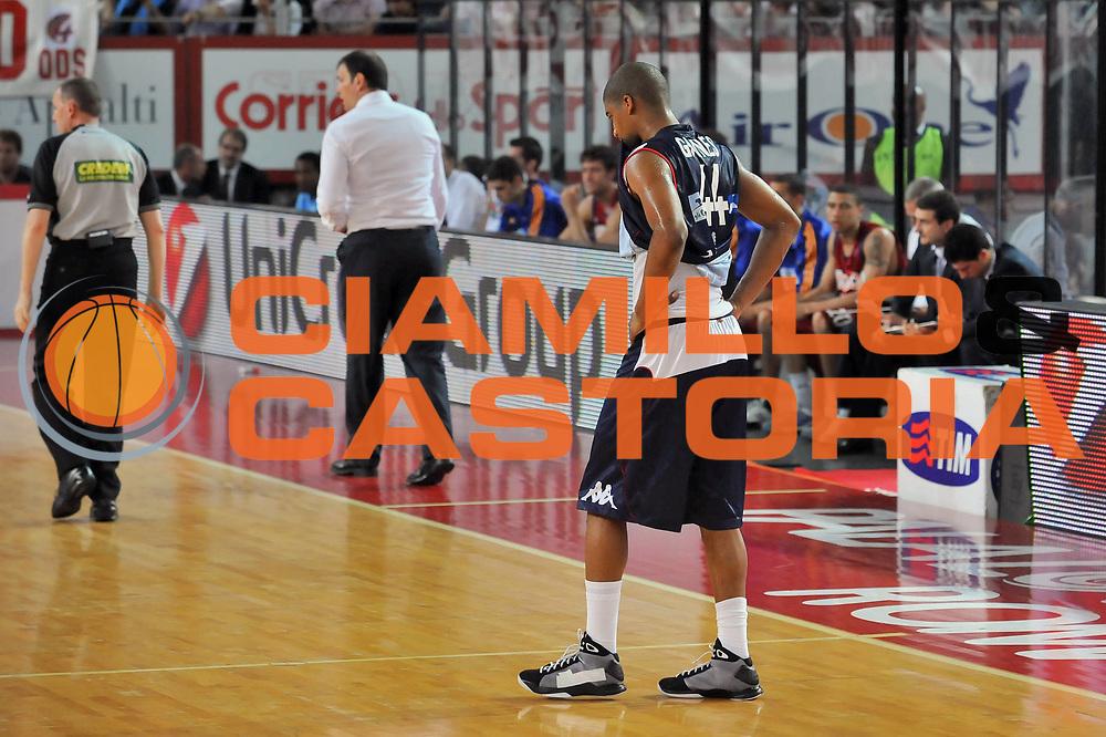 DESCRIZIONE : Roma Lega A 2008-09 Playoff Quarti di Finale Gara 3 Lottomatica Virtus Roma Angelico Biella<br /> GIOCATORE : Reece Gaines<br /> SQUADRA : Angelico Biella<br /> EVENTO : Campionato Lega A 2008-2009 <br /> GARA : Lottomatica Virtus Roma Angelico Biella<br /> DATA : 22/05/2009<br /> CATEGORIA : Delusione<br /> SPORT : Pallacanestro <br /> AUTORE : Agenzia Ciamillo-Castoria/G.Vannicelli