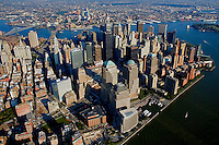Aerial views of Ground Zero, New York in  2002