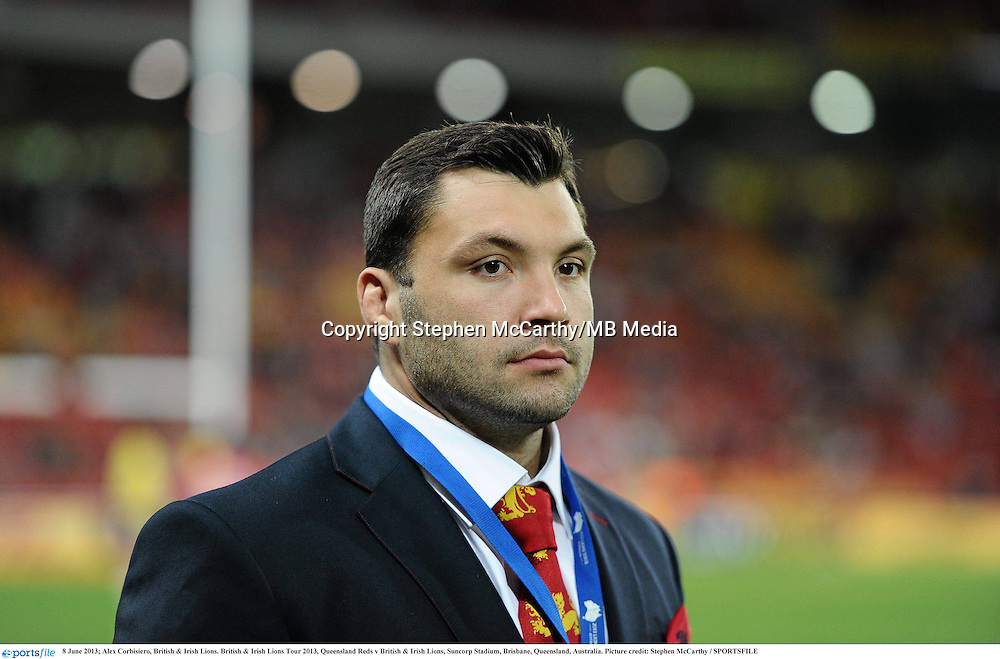 8 June 2013; Alex Corbisiero, British & Irish Lions. British & Irish Lions Tour 2013, Queensland Reds v British & Irish Lions, Suncorp Stadium, Brisbane, Queensland, Australia. Picture credit: Stephen McCarthy / SPORTSFILE
