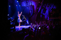 Brazilian singer Roberta Sa performs at the Circo Voador, a large music venue located behind the famous arches (aqueduct) in Lapa, the district known for nightlife, in Rio de Janeiro, Brazil, on Saturday, June 16, 2013.