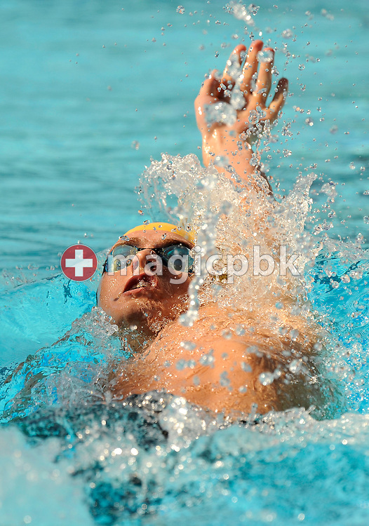Stephen PARKES of Australia swims on the backstroke leg in the men's 400m individual medley (IM) preliminary at the 13th FINA World Championships at the Foro Italico complex in Rome, Italy, Sunday, Aug. 2, 2009. (Photo by Patrick B. Kraemer / MAGICPBK)