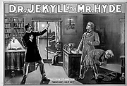 Poster depicting Dr Jekyll and Mr Hyde. From the story by Robert Louis Stevenson. Dated circa 1870