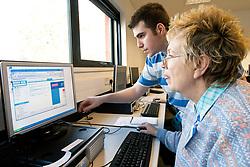 Computing Skills class for over 50s Haringey London UK