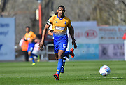 Krystian Pearce (5) of Mansfield Town during the EFL Sky Bet League 2 match between Exeter City and Mansfield Town at St James' Park, Exeter, England on 30 March 2019.