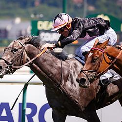 Yuman (PC. Boudot) wins Prix du Haras El Palmar (Uruguay) in Deauville, France, 06/08/2017, photo: Zuzanna Lupa / Racingfotos.com