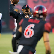 10 September 2016: The San Diego State Aztecs football team hosts Cal in their second game of the season.  The Aztecs beat Cal 45-40 to keep their win streak at 12 games going back to last season and improve their record to 2-0.