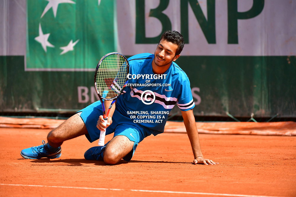 Rayane Roumane of France (Boys' Tournament) during Day 8 of the French Open 2018 on June 3, 2018 in Paris, France. (Photo by Dave Winter/Icon Sport)