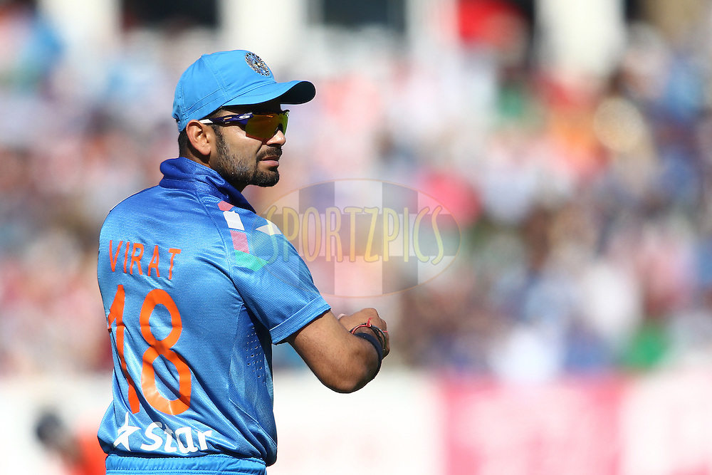 Virat Kohli of India during the International Twenty20 (T20) match between England and India held at Edgbaston Cricket Ground in Birmingham, England on the 7th September 2014<br /> <br /> Photo by Shaun Roy / SPORTZPICS/ BCCI