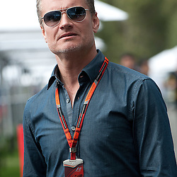 David Coulthard.<br /> Round 1 - opening day of the 2015 Formula 1 Rolex Australian Grand Prix at The circuit of Albert Park, Melbourne, Victoria on the 12th March 2015.<br /> Wayne Neal | SportPix.org.uk