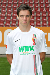 08.07.2015, WWK Arena, Augsburg, GER, 1. FBL, FC Augsburg, Fototermin, im Bild Raphael Framberger #32 (FC Augsburg) // during the official Team and Portrait Photoshoot of German Bundesliga Club FC Augsburg at the WWK Arena in Augsburg, Germany on 2015/07/08. EXPA Pictures © 2015, PhotoCredit: EXPA/ Eibner-Pressefoto/ Kolbert<br /> <br /> *****ATTENTION - OUT of GER*****