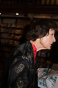 LADY BRIDGET BECK, book launch for No Longer With Us by Naim Attallah. Daunt books. Marylebone. London. 28 Novermber 2018