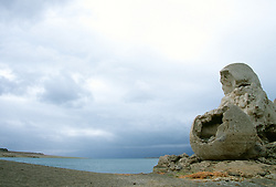 """""""Stone Mother at Pyramid Lake""""- Paiute legend says this mother's tears for her long lost children are what filled up Pyramid Lake, Nevada. <br /> Photographed: September 2007"""