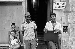 "CUBA/1994                                                                                                                    *EN: Rationing. Emigration. A shortage of basic foodstuffs, medicine, clothing and everyday necessities. Hunger and poverty. Prostitution. Disease. A police state, repression, imprisonment, torture and persecution... Beautiful nature, the ocean, paradise. Tourists. Socialism and permanent revolution. Fidel Castro, Che and the others. This is Cuba. The ""Island of Freedom"".Police, informers and revolutionary committees, which persecute every sign of resistance to the Communist system. This is the reality of the ""Island of Freedom"" today. .*CZ: Pridelovy sytem. Emigrace. Nedostatek zakladnich potravin, leku, obleceni a veci denni potreby. Hlad a  bida. Prostituce. Nemoci. Policejni stat, represe, zavirani, muceni, pronasledovani... Krasna priroda, more, raj na zemi. Turiste. Socialismus a permanentni revoluce. Che, Fidel a ti ostatni. Kuba. ""Ostrov svobody"".Policie, udava?i a revolu?ní výbory, které pronásledují ka?dý náznak odporu proti komunistickému systému."