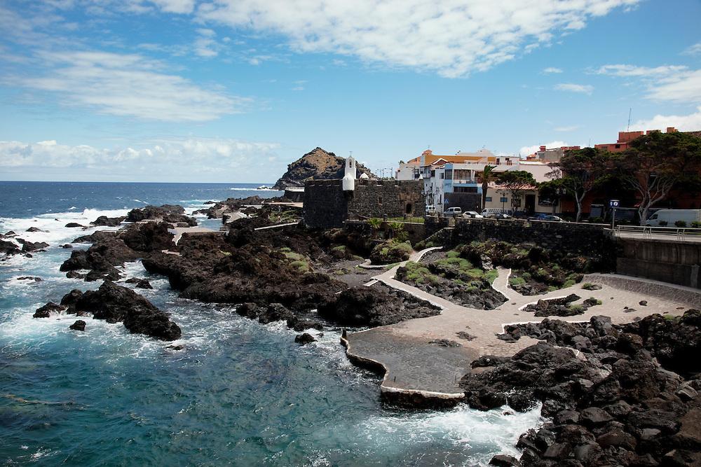 view over Garachico, North Tenerife.
