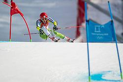 PYEONGCHANG-GUN, SOUTH KOREA - FEBRUARY 18: Zan Kranjec of Slovenia competes during the Alpine Skiing Men's Giant Slalom at Yongpyong Alpine Centre on February 18, 2018 in Pyeongchang-gun, South Korea.Photo by Ronald Hoogendoorn / Sportida