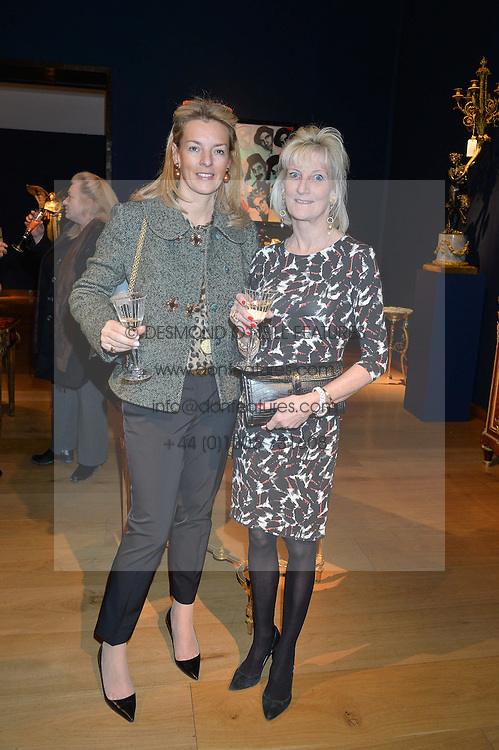 Left to right, FIONA DREESMANN and KATIE DASHWOOD at a party to celebrate the publication of Interiors For Living by Joanna Wood held at Christie's. 8 King Street, St.James's, London on 2nd March 2015.