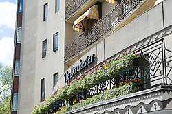 © London News Pictures. 03/05/15. London, UK. Police are investigating the death of a wealthy Arab man found dead in his room at the five-star Dorchester hotel. Dorchester Hotel, Central London. Photo credit: Laura Lean/LNP
