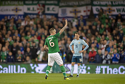 November 15, 2018 - Dublin, Ireland - Glenn Whelan of Ireland says goodbye to the fans comnig off the pitch during the International Friendly match between Republic of Ireland and Northern Ireland at Aviva Stadium in Dublin, Ireland on November 15, 2018  (Credit Image: © Andrew Surma/NurPhoto via ZUMA Press)