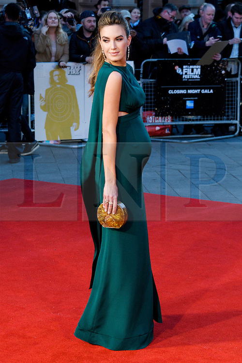 © Licensed to London News Pictures. 16/10/2016. London, UK. Photo credit: Pregnant ELIZABETH attends the film premiere of Free Fire showing at The London Film Festival. Ray Tang/LNP
