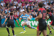 Gloucester, Great Britain, Joaquin TUCULET, look's for a gap, during the Argentina vs Georgia, Pool C. game. 2015 Rugby World Cup, Venue. Kingsholm Stadium. England, Friday - 25/09/2015 <br /> [Mandatory Credit; Peter Spurrier/Intersport-images]