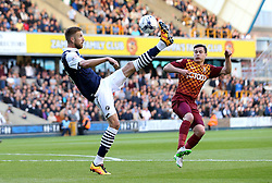 Mark Beevers of Millwall hooks the ball into the penalty box - Mandatory by-line: Robbie Stephenson/JMP - 20/05/2016 - FOOTBALL - The Den - London, England - Millwall v Bradford City - Sky Bet League One Play-Off Semi-Final second leg