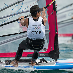 2012 Olympic Games London / Weymouth<br /> RSX man racing day 1 <br /> RS:X MenCYPCariolou Andreas