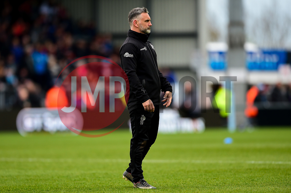 Ricky Pellow prior to kick off - Mandatory by-line: Ryan Hiscott/JMP - 14/04/2019 - RUGBY - Sandy Park - Exeter, England - Exeter Chiefs v Wasps - Gallagher Premiership Rugby