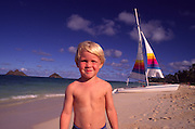 Boy, Lanikai Beach, Oahu, Hawaii<br />