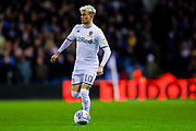 Leeds United defender Ezgjan Alioski (10)  during the EFL Sky Bet Championship match between Leeds United and Hull City at Elland Road, Leeds, England on 10 December 2019.