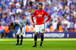 Chris Smalling of Manchester United looks dejected after Chelsea win 1-0 to win the FA Cup - Rogan/JMP - 19/05/2018 - FOOTBALL - Wembley Stadium - London, England - Chelsea v Manchester United - FA Cup Final.