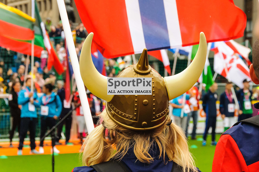 Action from the opening ceremony at the Homeless World Cup in Glasgow, 10 July 2016. (c) Paul J Roberts / Sportpix.org.uk