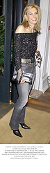 Fashion writer KIM HERSOV, at a party in London on 9th December 2002.	PGB 58