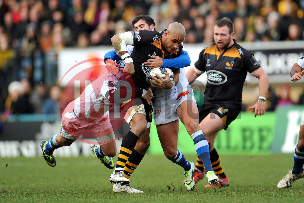 Tom Varndell of Wasps in attack - Photo mandatory by-line: Patrick Khachfe/JMP - Mobile: 07966 386802 14/12/2014 - SPORT - RUGBY UNION - High Wycombe - Adams Park - Wasps v Castres Olympique - European Rugby Champions Cup