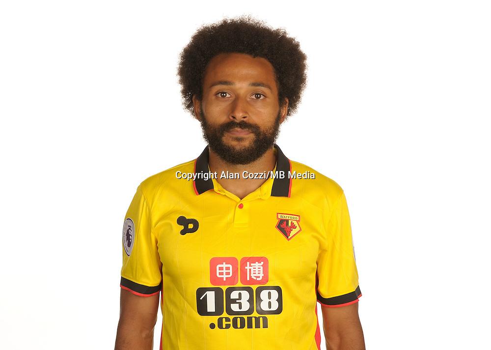 Watford FC Season 2016-17 Premier Lge<br /> Pic Alan Cozzi 02/08/2016<br /> Sopwell House Photocall Headshot's<br /> Watford's Ikechi Anya