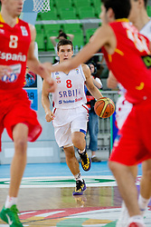 Bodgan Bogdanovic of Serbia during basketball match between National teams of Serbia and Spain in for third place match of U20 Men European Championship Slovenia 2012, on July 22, 2012 in SRC Stozice, Ljubljana, Slovenia. (Photo by Matic Klansek Velej / Sportida.com)