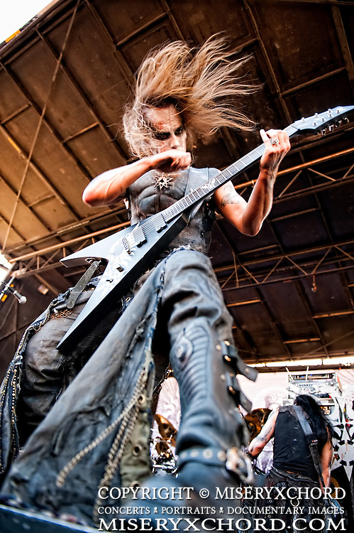 Behemoth performing at Rockstar Mayhen Festival 2009 in Devore, California USA on July 12, 2009.