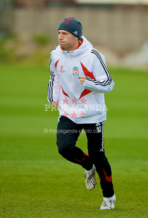 LIVERPOOL, ENGLAND - Monday, April 7,2008: Liverpool's Andriy Voronin during training at Melwood ahead of the UEFA Champions League Quarter-Final 2nd Leg. (Pic by David Rawcliffe/Propaganda)
