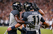 WEST LAFAYETTE, IN - SEPTEMBER 15: Members of the Purdue Boilermakers celebrate during the game against the Missouri Tigers at Ross-Ade Stadium on September 15, 2018 in West Lafayette, Indiana. (Photo by Michael Hickey/Getty Images) NCAA Football - Purdue Boilermakers vs Missouri Tigers at Ross-Ade Stadium in West Lafayette, Indiana. Sports photographer by Michael Hickey