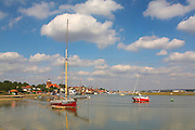 Great Britain England Essex Maldon River Blackwater Hythe Quay Oyster Boat Telegraph Moored in Channel