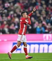 Fussball   1. Bundesliga   Saison 2016/2017   12. Spieltag  FC Bayern Muenchen - Bayer 04 Leverkusen     26.11.2016 JUBEL FC Bayern Muenchen; Torschuetze zum 1-0 Thiago Alcantara