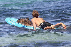 "EXCLUSIVE: *NO SUBSCRIPTION USE* Shark catches a ride on Bondi Rescue lifeguard's surf ski after washing up on iconic Bondi Beach. ** Where image credits are published, ""KHAPGG"" must be included. KHAPGG reserves the right to reverse any prior publishing or usage permissions where ""KHAPGG"" credits have been excluded from published image credits. 27 Nov 2018 Pictured: Shark Rescue Bondi Beach. Photo credit: KHAPGG / MEGA TheMegaAgency.com +1 888 505 6342"