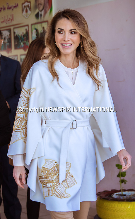 06.12.2016; Al Balqa, Jordan: QUEEN RANIA<br />joined a group of education professionals at a workshop on the deteriorating performance of Jordanian students in the Trends in International Mathematics and Science Study (TIMSS), during a visit to the Mahes Secondary School for Girls in Al Balqa.<br />Mandatory Photo Credit: &copy;Royal Hashemite Court/NEWSPIX INTERNATIONAL<br /><br />PHOTO CREDIT MANDATORY!!: NEWSPIX INTERNATIONAL(Failure to credit will incur a surcharge of 100% of reproduction fees)<br /><br />IMMEDIATE CONFIRMATION OF USAGE REQUIRED:<br />Newspix International, 31 Chinnery Hill, Bishop's Stortford, ENGLAND CM23 3PS<br />Tel:+441279 324672  ; Fax: +441279656877<br />Mobile:  0777568 1153<br />e-mail: info@newspixinternational.co.uk<br />&ldquo;All Fees Payable To Newspix International&rdquo;