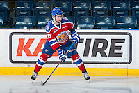 KELOWNA, CANADA - FEBRUARY 22: Tyson Gruninger #10 of the Edmonton Oil Kings warms up against the Kelowna Rockets on February 22, 2017 at Prospera Place in Kelowna, British Columbia, Canada.  (Photo by Marissa Baecker/Shoot the Breeze)  *** Local Caption ***