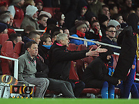 Football - 2017 / 2018 Europa League - Round of Thirty-Two, Second Leg: Arsenal (3) vs. Ostersunds FK (0)<br /> <br /> Arsenal Manager, Arsene Wenger despair's as his team edge to defeat , at The Emirates.<br /> <br /> COLORSPORT/ANDREW COWIE