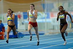 07-02-2010 ATLETIEK: NK INDOOR: APELDOORN<br /> Nederlands kampioen 60 meter Dafne Schippers, Eugenie Kool en rechts Jamile Samuel<br /> ©2010-WWW.FOTOHOOGENDOORN.NL