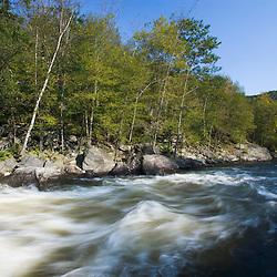 Zoar Rapid on the Deerfield River in Charlemont, Massachusetts.