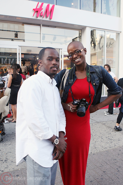 29 July 2010-New York, NY- l to r: Kyle and Mary Pryor at The H&M and Uptown Magazine Celebration of the grand re-opening of the H&M Harlem Store with a VIP preview with music, food and 25% off the evenings purchases held at H&M harlem on July 29, 2010 in Harlem, New York City. Photo Credit: Terrence Jennings