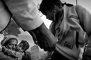 Victims from the earthquake in the outskirts of Balakot.<br /> Balakot, Nov. 2005