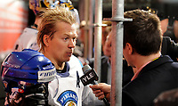 Petteri Nummelin (FIN) beim Interview. © Valeriano Di Domenico/EQ Images