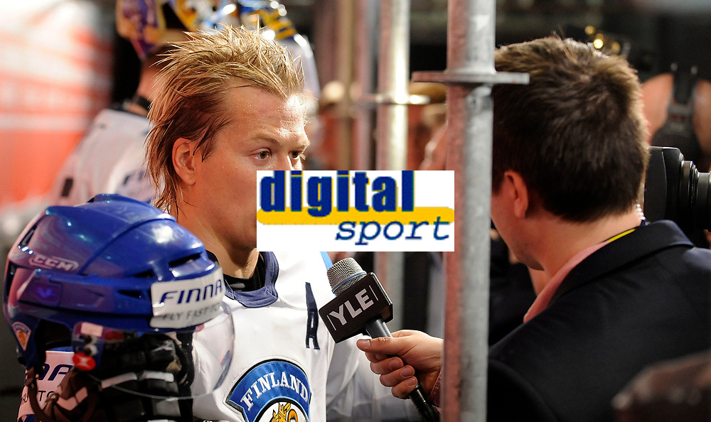 Petteri Nummelin (FIN) beim Interview. © Valeriano Di Domenico/EQ Images